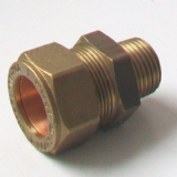 Brass MDPE Alkathene Male Iron Coupling 20mm x 1/2 - 18422000